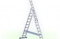 Трехсекционная лестница Алюмет(3секции по 4м) до 12м